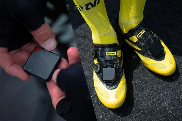 Leomo sensor attached to cyclist shoe